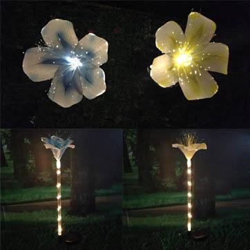 fibră optică de decorare floare lumina